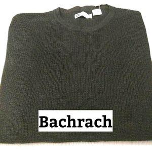Bachrach, Black Wool Blend Sweater Sz XL